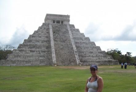 Exploring the ruins in Chichen Itza, Mexico