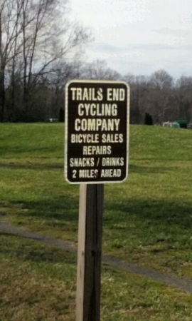 My favorite sign - it means I'm almost to Purcellville!