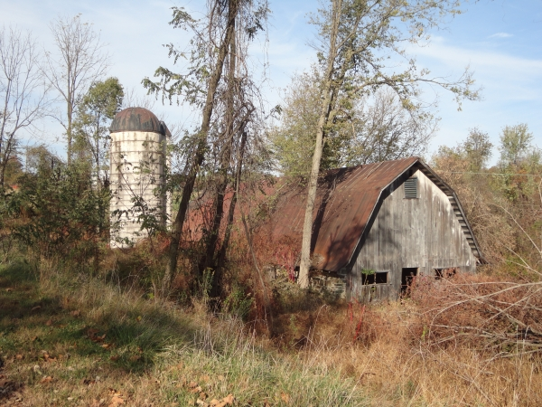 A rustic old barn along the trail in Leesburg