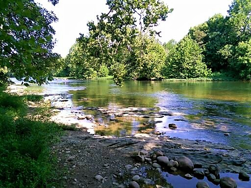 The view of the Shenandoah River a few feet from our campsite