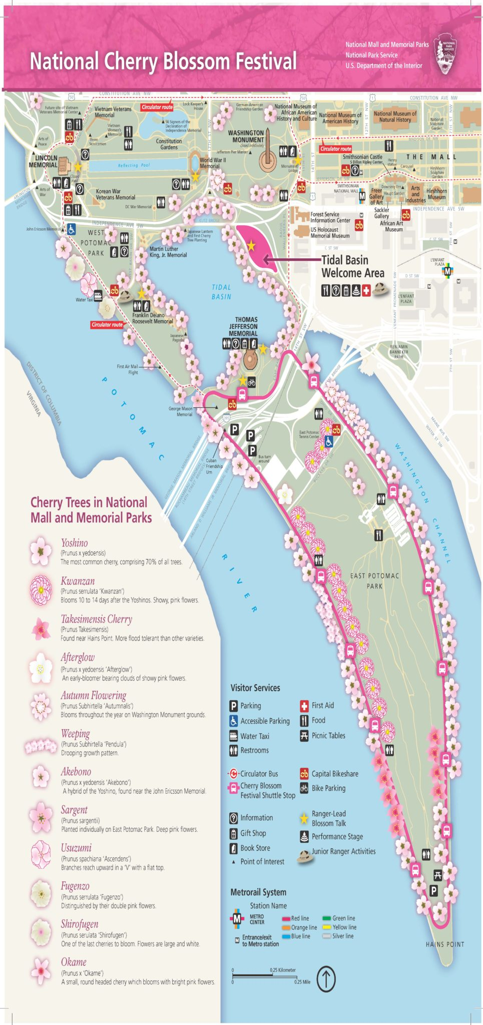 2017 Cherry Blossom Festival Map