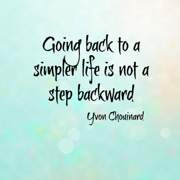 Going back to a simpler life is not a step backward. - Yvon Chouinard
