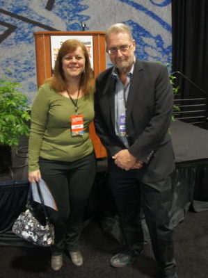 Peter Greenberg and me at the DC Travel & Adventure Show