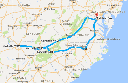 North Carolina/Tennessee Road Trip