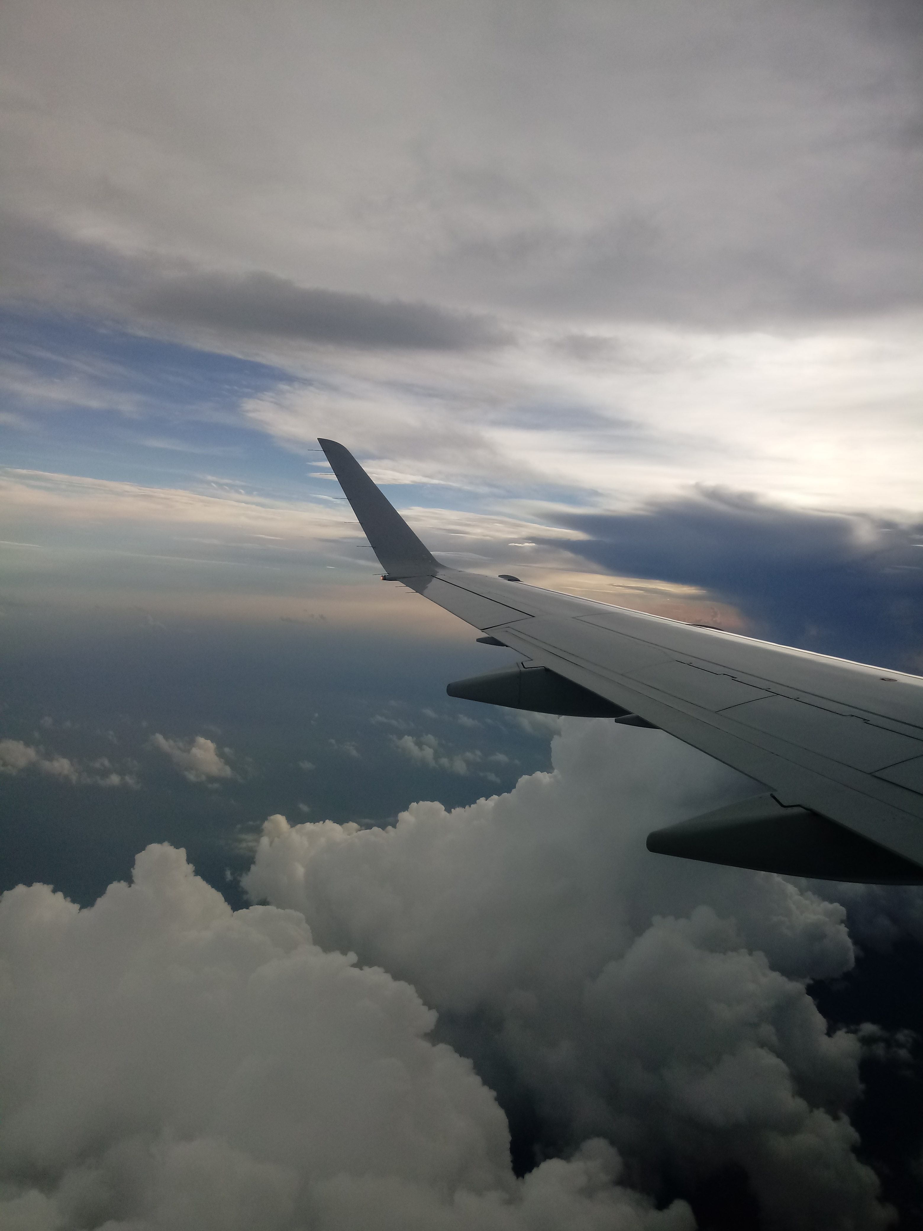The view out of the airplane window