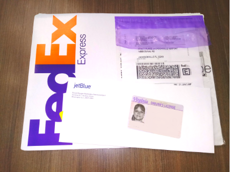 The FedEx package I received from JetBlue