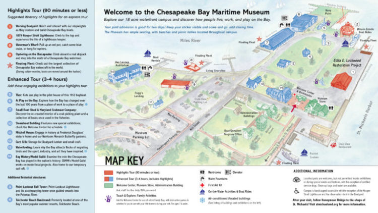 Chesapeake Bay Maritime Museum Campus Map