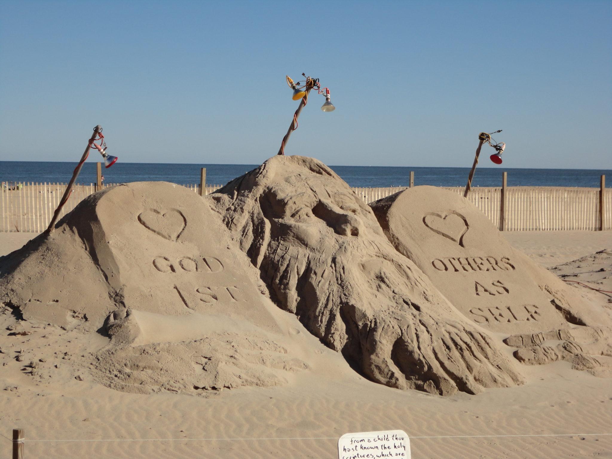 Sand sculpture in Ocean City MD
