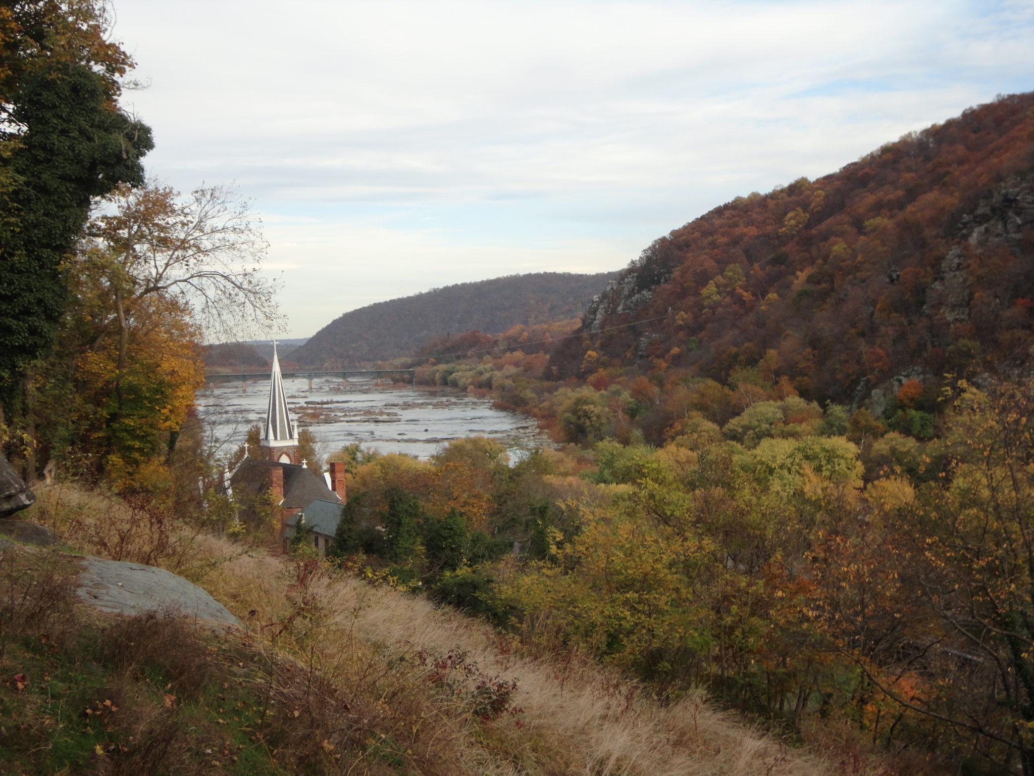 View of Harpers Ferry from near Jefferson Rock