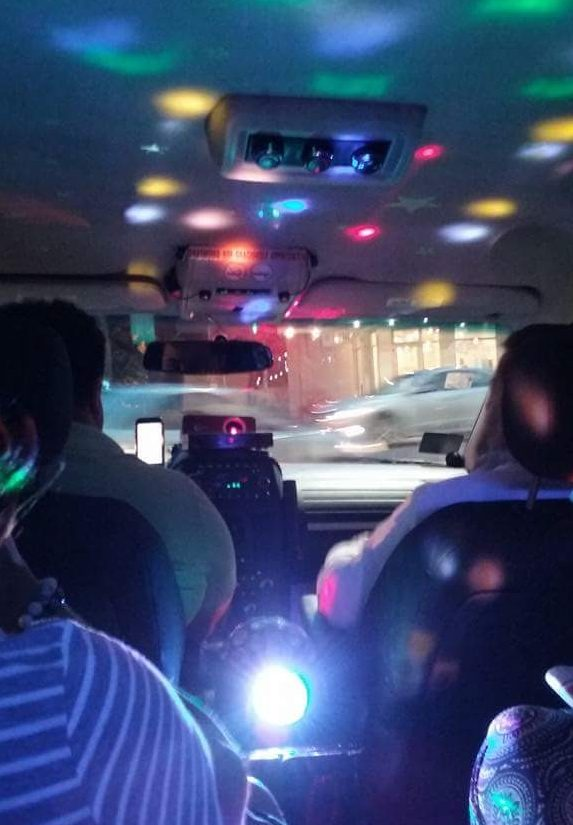 Inside a cool Uber I took in New Orleans