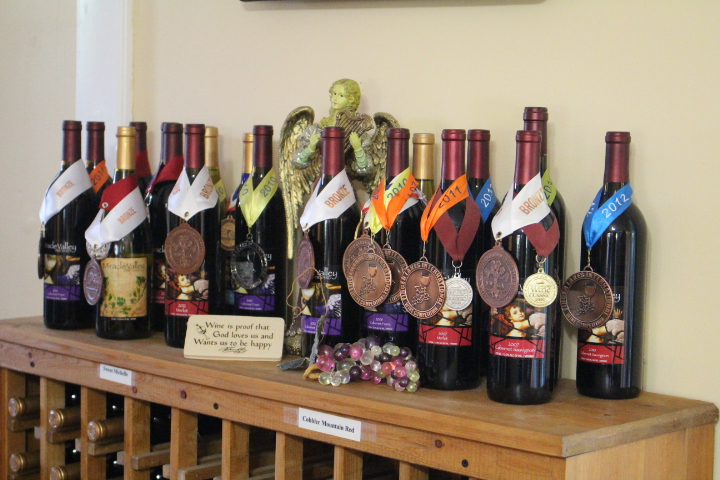 award-winning wines from Miracle Valley Vineyard