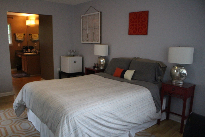 My Airbnb in Asheville, NC - a large master suite with private bathroom