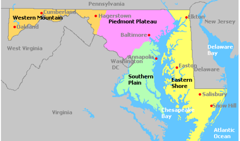 Maryland wine growing regions