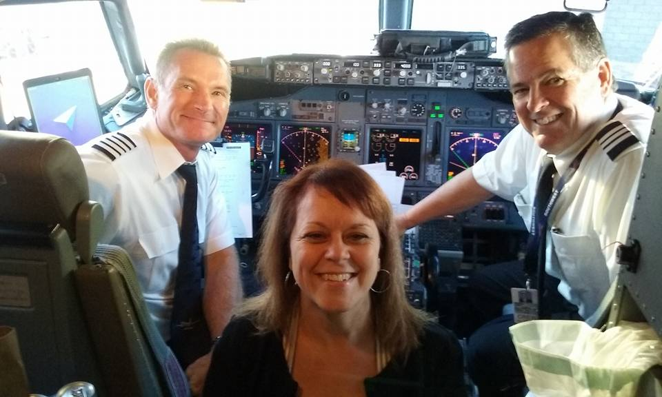 My Southwest Airlines pilot & co-pilot on my Costa Rica trip